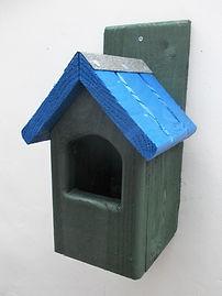 Classic Robin Bird Box Green & Blue