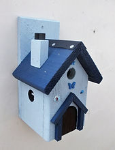 Fairy House Pale Blue & Dark Blue