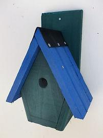 Spire Bird Box Pine Green & Blue