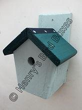 Cottage Bird Box Pale Green & Pine Green