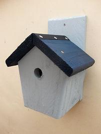 Cottage Bird Box Pale Blue & Dark Blue.J