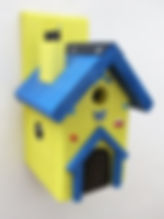 Fairy House Yellow & Blue
