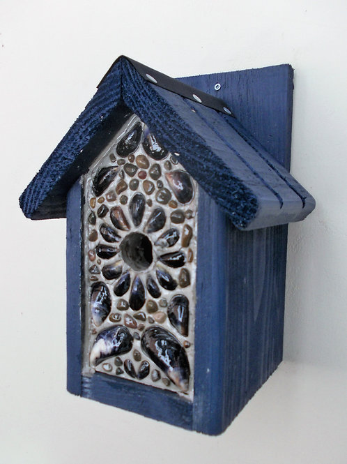 Limited Edition 'Blue Seashore' Bird Box