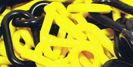 Chaine plastique jaune & noir