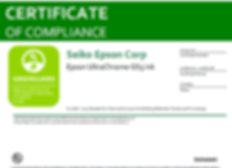 Certification Greengard des encres Epson GS3