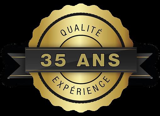 35 ans d'expérience