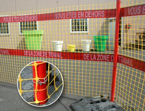 Grillage EDF ZONE DE TRAVAIL
