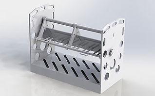 Réalisation de paniers de manutention en PPH. Découpe, soudur et montage en caudronnerie plastique.