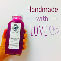 Never processed or pasteurized in any way! Each bottle is hand-squeezed in our press, hand-labeled,
