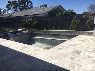 Ocean Blu Concrete Pool Construction - Waterline & Coping