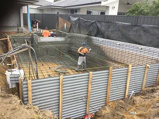 Ocean Blu Concrete Pool Construction - Concrete Application