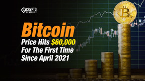 Bitcoin Price Hits $60,000 For The First Time Since April 2021