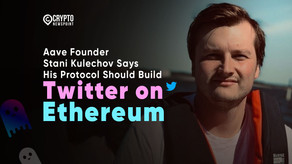 """Aave Founder Stani Kulechov Says His Protocol Should Build """"Twitter on Ethereum"""""""