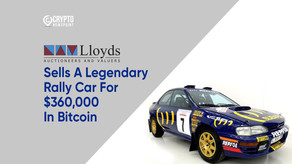 Lloyds Auctions House Sells A Legendary Rally Car For $360,000 In Bitcoin