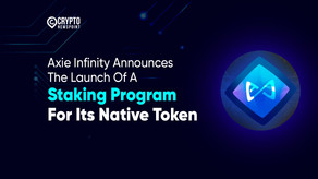 Axie Infinity Announces The Launch Of A Staking Program For Its Native Token