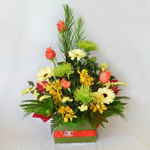 Large box of mixed flowers