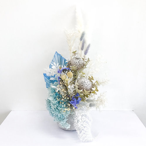 Blue King - dried flowers