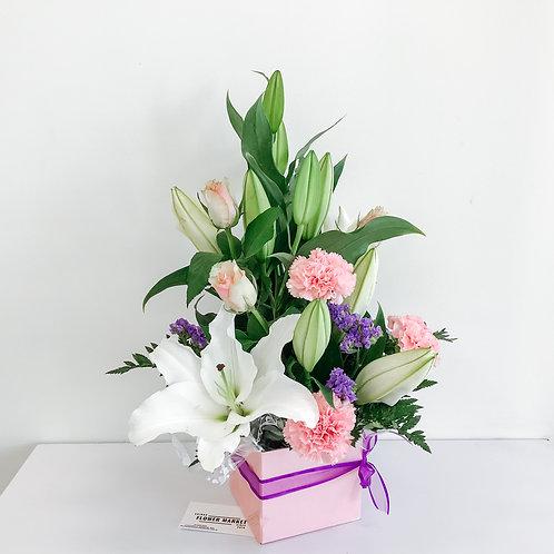 Loving mum - oriental lilies arrangement