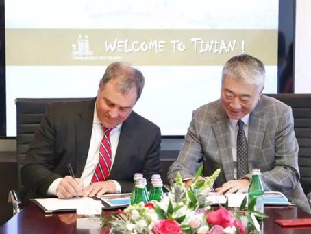 """Tinian Ocean View resort and Casino"" project management signing ceremony"