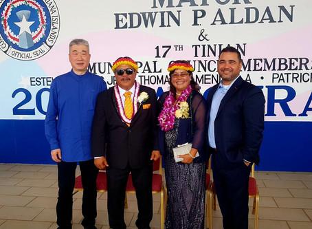 01/16/2019 Warmly celebrate the new mayor of Tinian Island, USA