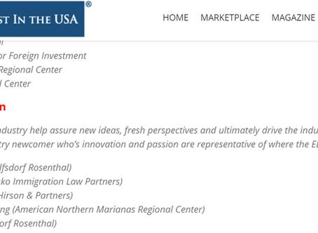 Congratulations ANMRC Regional Center's Nomination for the IIUSA Awards for Economic Advancement
