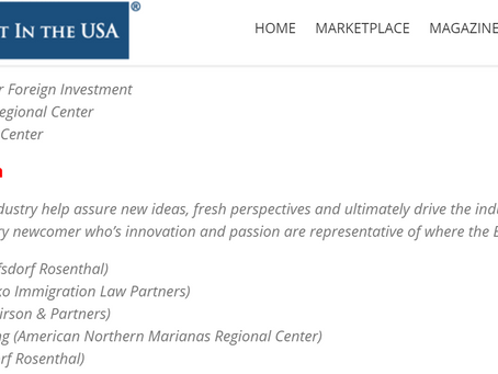 Congratulations ANMRC Regional Center's Nomination for the IIUSA Awards for Economic Advancement