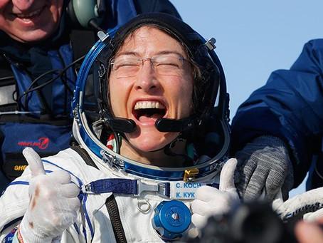 Good news Wednesday! Christina Koch: Nasa astronaut sets new female space record