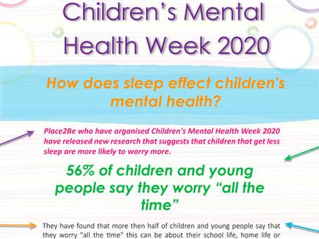 How does sleep effect children's mental health? Children's Mental health week 2020
