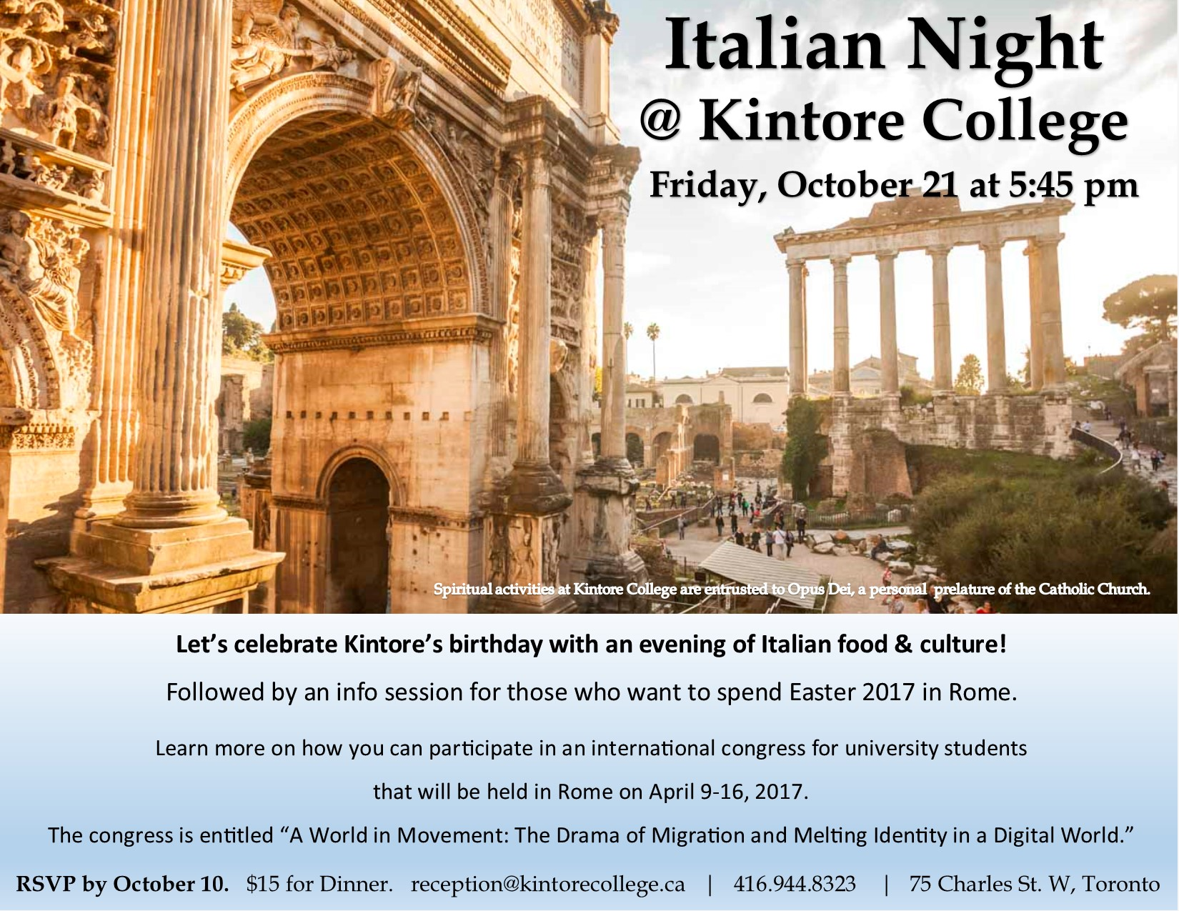 Italian Night at Kintore College, Oct 21, 2016