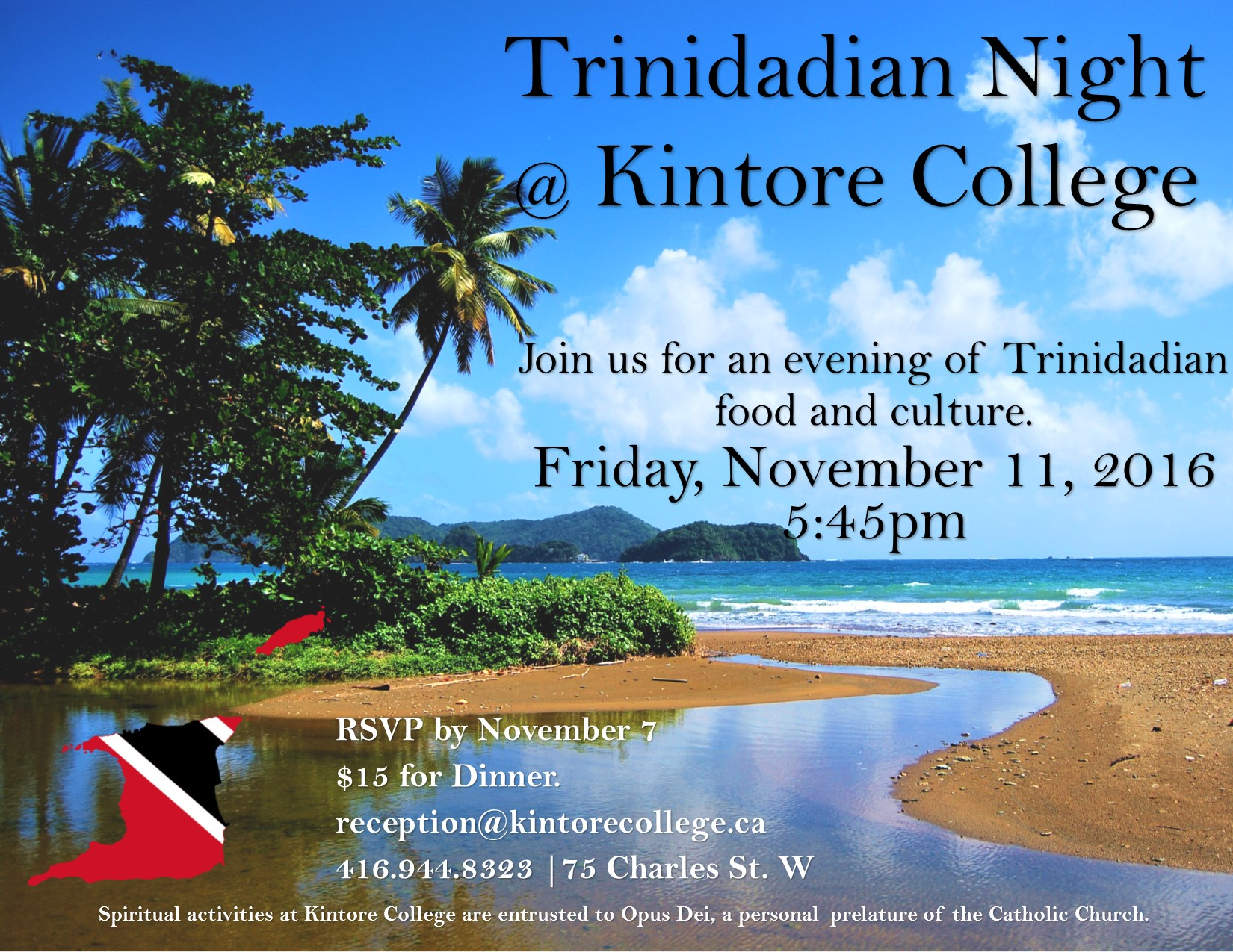 Trinidadian Night at Kintore College, Nov.11, 2016