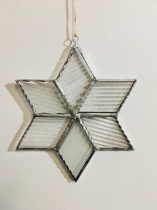 Snowflake - ribbed clear