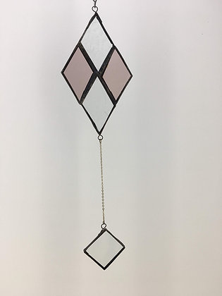 Pendant with Delicate Chain - diamond purple