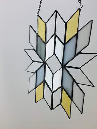 Sun Catcher Diamond Design with Vintage Mirror