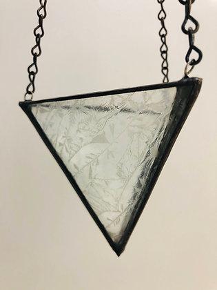 Medium Hanger -  Clear Glue Chip Glass