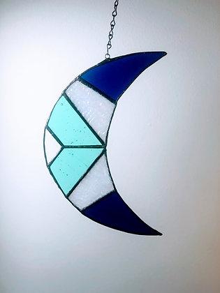 Crescent Moon- blue