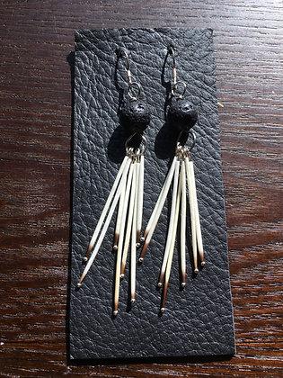 Sterling Silver Porcupine earrings