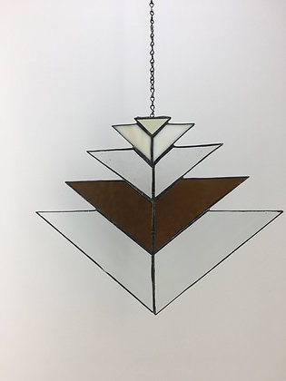 Chevron Sun Catcher - amber