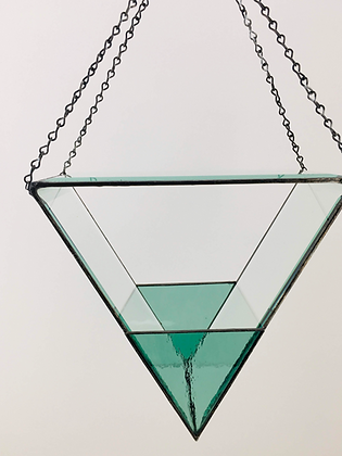 Beveled Glass- large with sea green