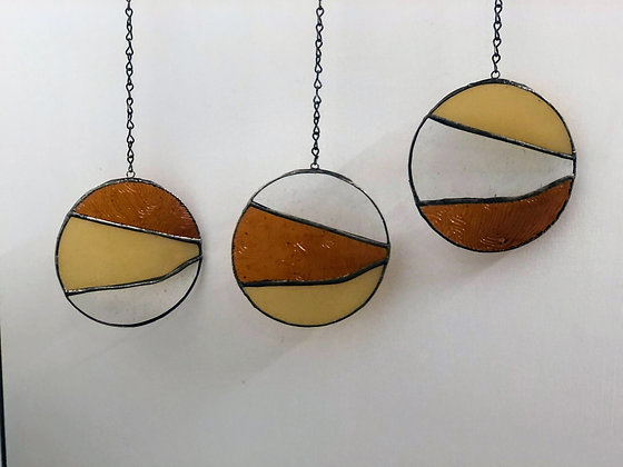3 Circles- light yellow, brown, clear