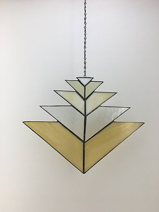 Chevron Sun Catcher - golds