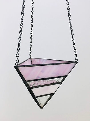 Large Hanger - pink and clear