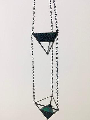 2 Tier Small Hanger - blue/green textured