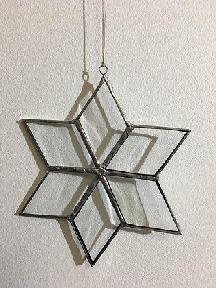 Snowflake - clear wavy