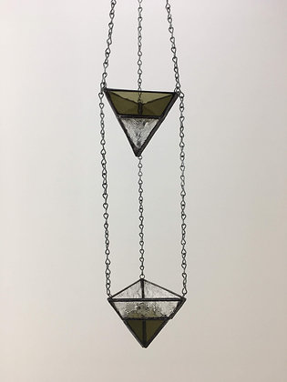 2 Tier Small Hanger - olive green