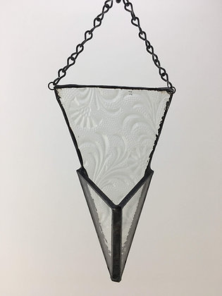 Flat Triangle Hanger - clear floral pattern