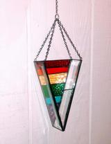 Beveled Glass - rainbow stripes
