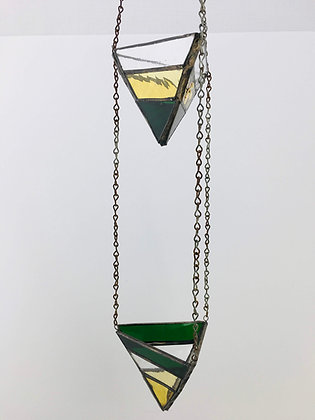2 Tier Medium Hanger- green and gold
