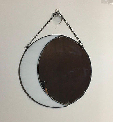 Crescent/Full Moon - white and mirror