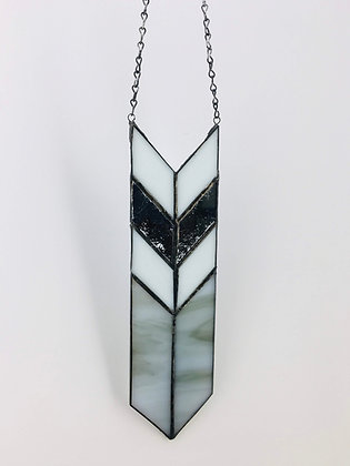 Sun Catcher Arrow with Chain- mirror and grey