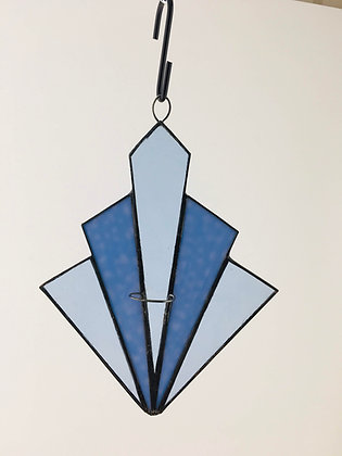 Art Deco Fan - blue